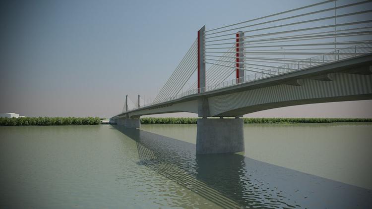 Szakmai kirándulás – az épülő új Duna-híd megtekintése
